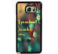 You Can Do it Design Slim Metal Back Case for Samsung Galaxy Note 3/Note 4/Note 5/Note 5 edge