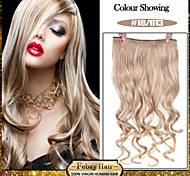 5 Clips Wavy 18/613 Synthetic Hair Clip In Hair Extensions For Ladies more colors available