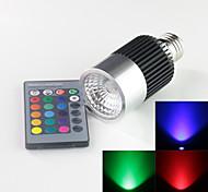 Focos Control Remoto/Decorativa A E26/E27 10 W 1 LED de Alta Potencia 900 LM RGB AC 85-265 V 1 pieza