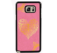 Lovely Heart Shape Design Slim Metal Back Case for Samsung Galaxy Note 3/Note 4/Note 5/Note 5 edge