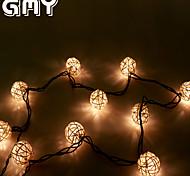 GMY natal luz rattan corda bola de luz