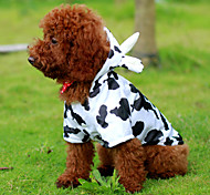 White Cosplay Cow Cotton Coats/Hoodies For Dogs