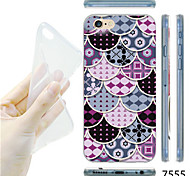 MAYCARI®Colorful Fan Pattern TPU Soft Transparent Back Case for iPhone 6