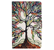 modèle d'arbre multicolore cuir PU cas de tout le corps avec la fente de support pour galaxy tab 9.6 e T560