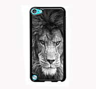 o leão feroz alumínio design de caso de alta qualidade para o iPod touch 5