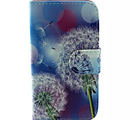 Dandelion Pattern PU Leather Phone Case for Samsung Galaxy J1