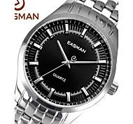 EASMAN® Brand Mens Watches Designer Watch Watch Brands Casual Steel Band Silver Black Watches for Men Gift Wristwatch Cool Watch Unique Watch