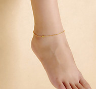 Fashion Women Beach Yoga Dance Simple Matte Beads Chain Anklets