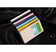 2015newest moda funda de piel ventana de la cubierta del tirón de la PU de la cáscara del teléfono móvil para samsung colores surtidos