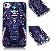 Elephant Pattern TPU Soft Case for iPhone4/4S