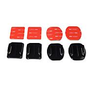 Kingma 2pcs piatto gopro mount adesivo + 2 adesivo curvo kit di montaggio per andare eroe pro 4 3 3+ 2 1