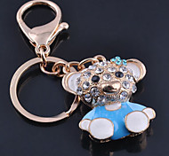 Panda  Stainless Steel A Diamond Useful Key Ring