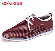 Aokang Men's Shoes Outdoor/Athletic/Casual Tulle Fashion Sneakers Blue/Red