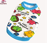 FUN OF PETS® Cartoon Character Pattern Cotton Vest for Pets Dogs(Assorted Colors and Sizes)