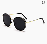 Sunglasses Men / Women / Unisex's Modern / Fashion Oval Black / Leopard / Transparent Sunglasses Full-Rim