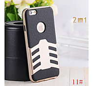 Air Ship Pattern Anti-knock Rocket Back Cover Slim Case 2 in1 Hybrid PC+ Soft Silicon Combo Case for iphone 6