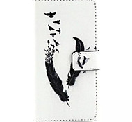 Feather Pattern PU Leather Phone Case For Huawei P8