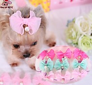 Dog / Cat Hair Accessories / Hair Bow Blue / Pink / Rose Spring/Fall Wedding / Cosplay