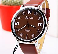 reloj de negocios simple originalidad redonda pc de línea de cuero movimiento de cuarzo correa de la moda de los hombres (colores