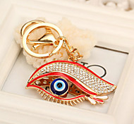 Cute Rhinestone One Eye Keychain