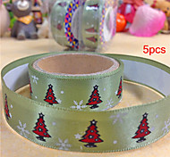 5pcs Silk Tape Christmas Tree on Christmas