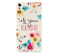 Oil Painting Flowers Pattern Hard Back Case for Huawei P7