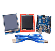 Improved Version UNO R3 ATMEGA328P Board Module +2.4 Inch and 2.8 Inch TFT LCD Touch Shield Display Module for Arduino