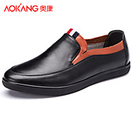 Aokang Men's Shoes Outdoor/Office & Career/Casual Leather Loafers Black/White