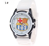 The New Men's Fashion Simple Pattern Chinese Flag Silicone Watch Movement(Assorted Colors)