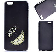 Black Teeth Pattern PC Material Phone Case for iPhone 6