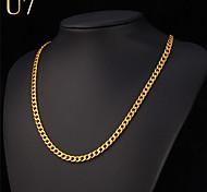 Муж. Жен. Ожерелья-цепочки Нержавеющая сталь Серебрянное покрытие Позолота Мода бижутерия Хип-хоп Rock Бижутерия Назначение Особые случаи