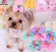 Cat / Dog Hair Accessories / Hair Bow Blue / Purple / Pink Dog Clothes Spring/Fall Wedding / Cosplay