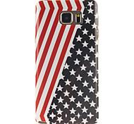 la bandera diseño de la cubierta del tpu americano para Samsung Galaxy Note 5 / Note5 borde