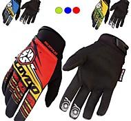 Motorrad-Handschuhe Vollfinger Chinlon/Nylon/Lycra M/L/XL/XXL Grün/Rot/Blau