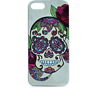 For iPhone 5 Case Pattern Case Back Cover Case Skull Hard PC iPhone SE/5s/5