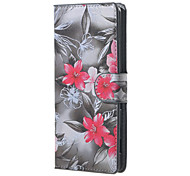 rote Blumenmuster Leder Brieftasche Flip Standplatzfall für Acer Liquid-Fällen Z220 M220 deckt für Acer Liquid Z410