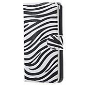 für Acer Liquid z520 decken Zebrafell Leder Brieftasche Flip Standplatzfall für Acer Liquid Z520 Handytaschen