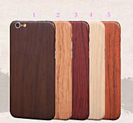 grano de madera protector de cuerpo completo pegatina de cine para el iphone 6 6s / iphone (colores surtidos)