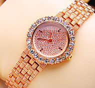 Women's New Luxury Trend Round Diamond Dial Fashion Quartz Bracelet Watch (Assorted Colors)