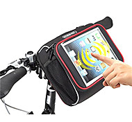 Bolsa para Guidão de Bicicleta (Preto , Material á Prova-de-Água / Póliester 600D)Á Prova-de-Água / Zíper á Prova-de-Água / Á Prova de