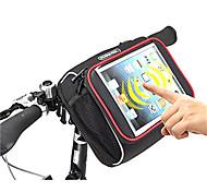 "2015 Newest 300D Waterproof Folding bike Bicycle Handlebar Front Tube Basket Bag Cycling Shoulder Bags for Tablet 7""-8"""