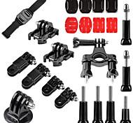 23 en 1 extérieure kit d'accessoires de GoPro pour GoPro Hero 4/3 + / 3/2/1 sj4000 / sj5000 / sj6000 xiaomi yi