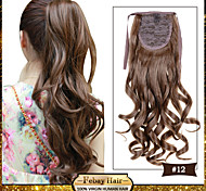 Cute New Curly/wavy Drawstring Ponytails Synthetic Ladies Clip in Hair Extension