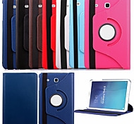 "KARZEA™360 Degree Rotating PU Leather 9.7"" Case with Stand for Samsung Galaxy Tab E 9.6 T560 (Assorted Colors)"