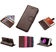 DE JI 100% Real Genuine Cow Leather Classic Durable Style Card Slot Wallet Folio Pouch Phone Case Stand For iphone 6