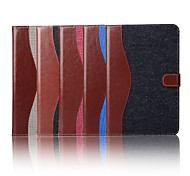 7.9 Inch Mixed Color Pattern Canvas Wallet Leather Case with Stand for iPad Mini 4(Assorted Colors)