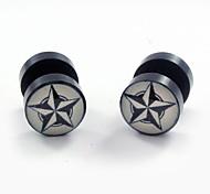 Ohrring Sternenform Ohrstecker Schmuck 2 Stück Alltag / Normal / Sport Acryl Damen / Herren / Paar Silber