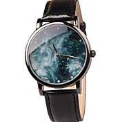 Women's Fashion Watch Fun Collectibles Simple Quartz Watch Leather Popular Fantasy Planet (Assorted Colors)