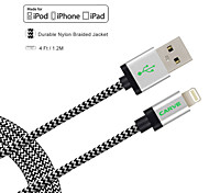 IMF 4ft tallar certificado (1.2m) rayo de sincronización USB y cable de carga para el iPhone de Apple 5 / 5s / 6.6 plus Mini iPad /