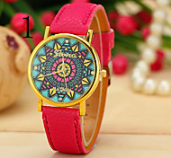 Unisex's Watch Retro Password Turntable Geneva Fashion Belt Watch